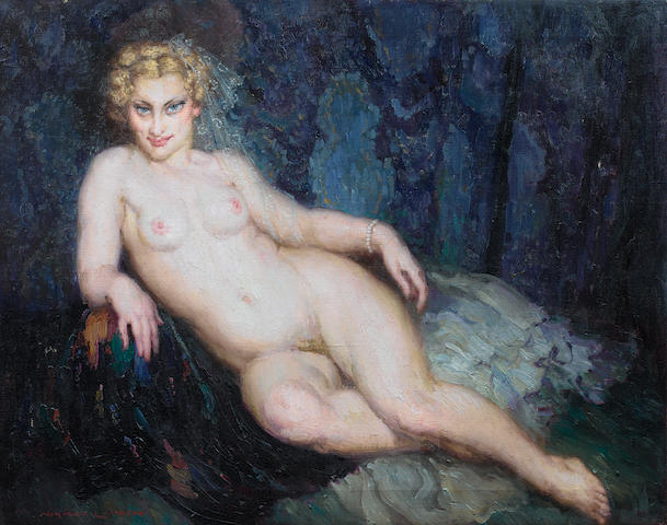 Norman Alfred Lindsay (Australian, 1879-1969) 'The chaise longue'
