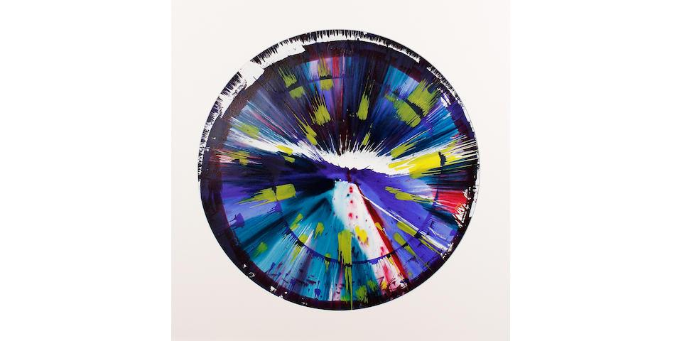 Damien Hirst (British, born 1965) Spin picture, 2009 51cm (20 1/16in) diameter.