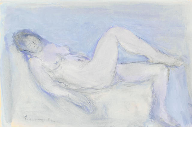 Jean Max Friedrich Welz (South African, 1900-1975) Reclining nude