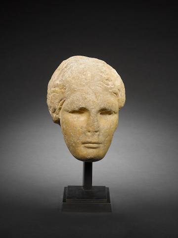 A Greek pentelic marble female head