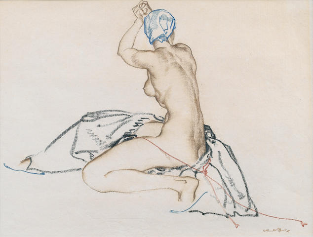 Sir William Russell Flint R.A., P.R.W.S. (British, 1880-1969) The Lemnian Woman 23 x 30.5 cm. (9 x 12 in.)
