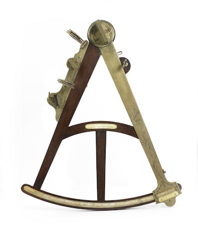 An late 18th century 16in(41cm)radius Rosewood frame Octant.