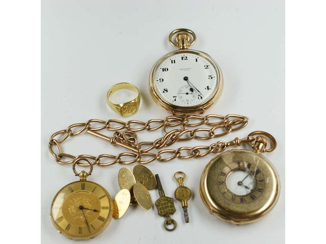 A 9ct gold Albert chain,