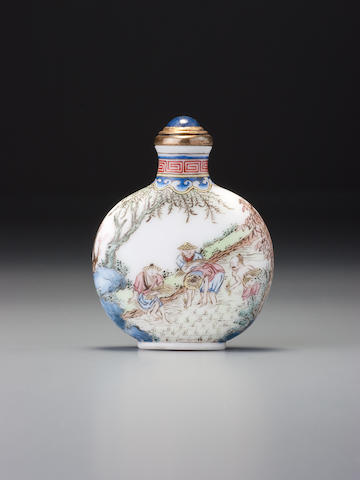 Wu Yuquan enamel on glass, tilling and weaving.