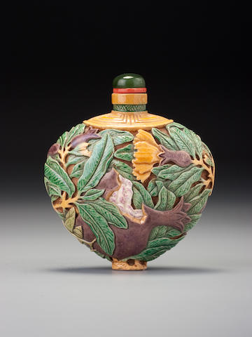 Japanese porcelain with pomegranates and mantis