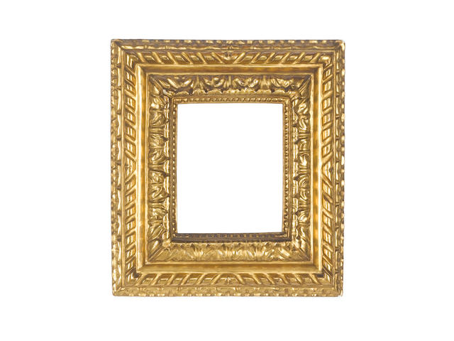 An Italian 18th Century carved and gilded frame