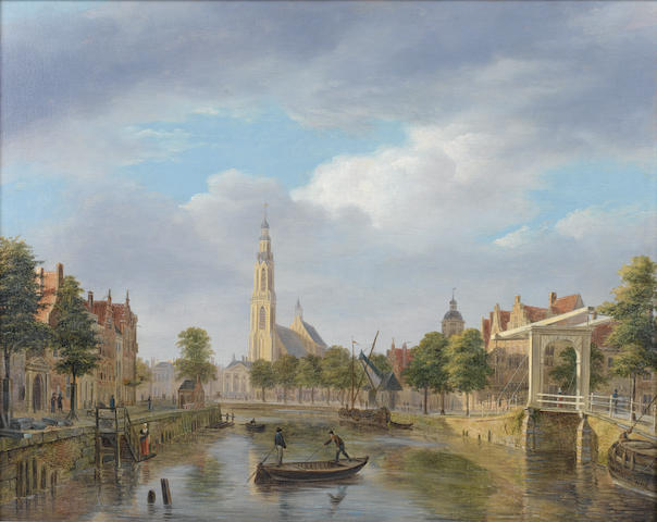 Follower of Bartholomeus Johannes van Hove (Dutch, 1790-1880) A Cappricio town view