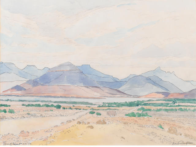 Jacob Hendrik Pierneef (South African, 1886-1957) 'Graaff Reinet'