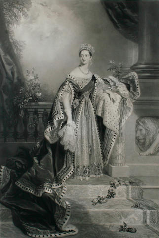 Samuel Cousins (British, 1801-1887), after Alfred Edward Chalon, RA (British, 1780-1860) Portrait of Queen Victoria on her Coronation