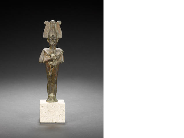 An Egyptian bronze of Osiris