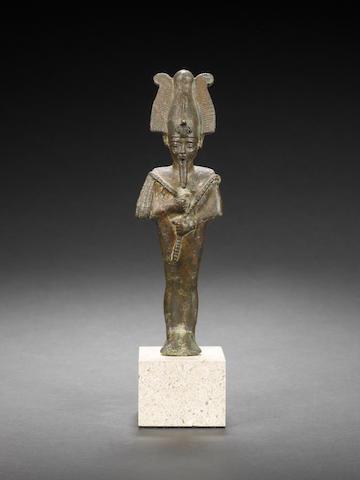 An Egyptian bronze of Osiris