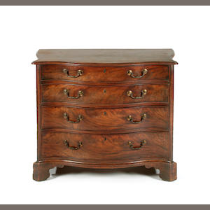 A fine George III mahogany serpentine dressing commode, circa 1770 Probably by Gillows of Lancaster