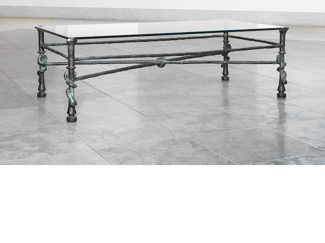 Diego Giacometti (Swiss, 1902-1985) 'Grande Table Torsade' circa 1965 Height: 15¾ in. (40 cm.) Length: 46 in. (117 cm.) Depth: 29 1/8 in. (74 cm.)