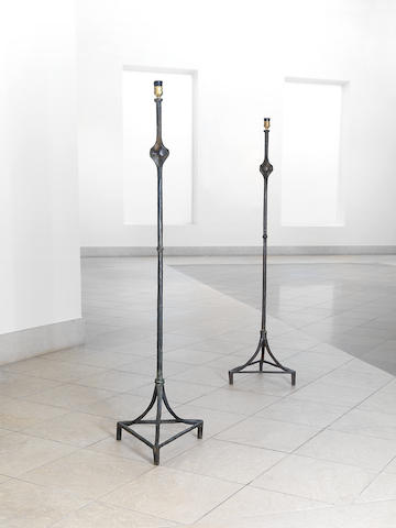 (n/a) Alberto & Diego Giacometti (Swiss), for Jean-Michel Frank, 'Lampdaire Noued' designed circa 1935-37