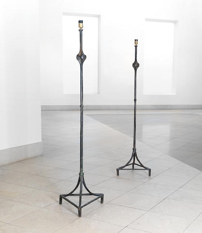 Alberto & Diego Giacometti (Swiss), for Jean-Michel Frank, 'Lampdaire À Noued', designed circa 1935-37, and cast by Diego Giacometti at a later date???