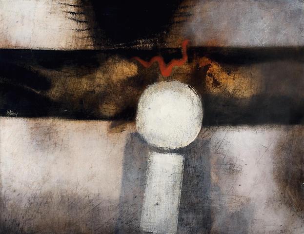Douglas Portway (South African, 1922-1993) White globe