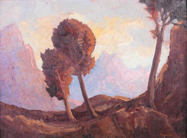 Jacob Hendrik Pierneef (South African, 1886-1957) A mountain pass, S.W.A.