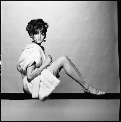 Jean Shrimpton, 1965 Paper 50.8 x 40.6cm (20 x 16in), image 35.6 x 35.6cm (14 x 14in).