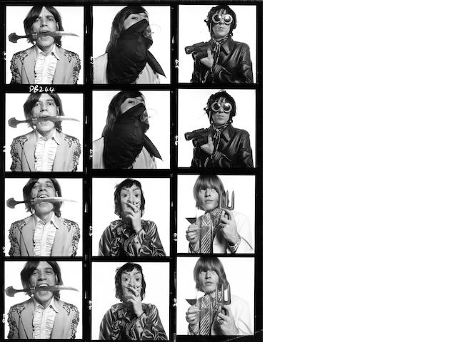 The Rolling Stones, 1968. Gelatin silver print. Printed 2008. Edition of 10.