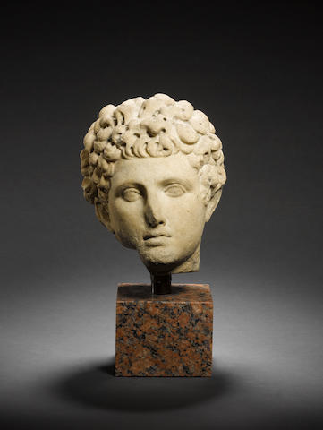 A Roman marble head of young man
