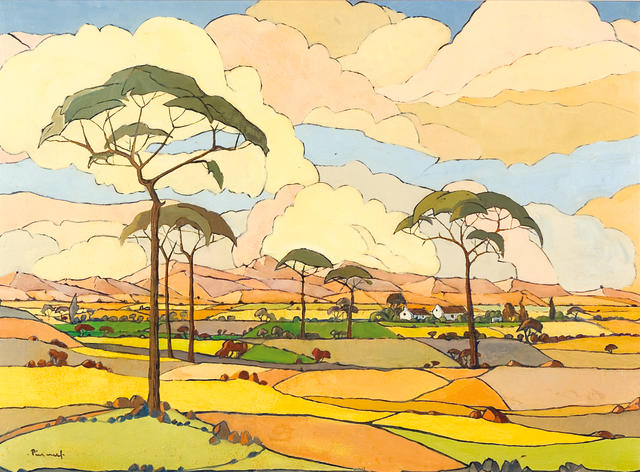 Jacob Hendrik Pierneef (South African, 1886-1957) An extensive view of farmlands