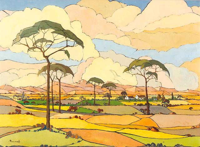 Jacob Hendrik Pierneef (South African, 1886-1957) An extensive view of farmlands