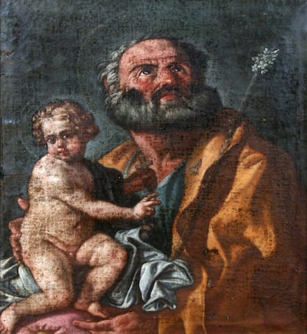 Neapolitan School (later 18th century) St. Joseph and the Infant Christ,