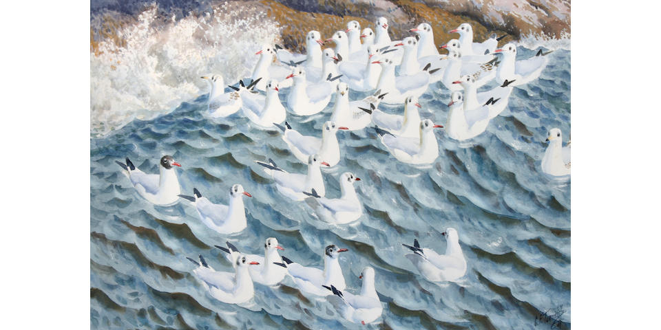Charles Frederick Tunnicliffe R.A. (British, 1901-1979) 'Lifting Wave',