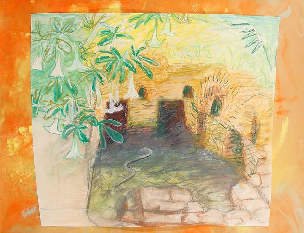 Winifred Nicholson (British, 1893-1981) Moroccan landscape