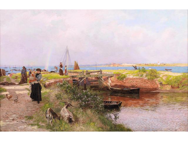 Martin Snape (British, active 1874-1901) The fisherman's return