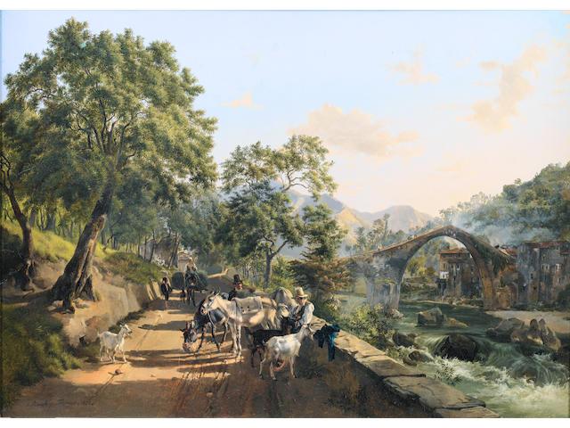 Johann Nepomuk Rauch (Austrian, 1804-1847) Idle moments