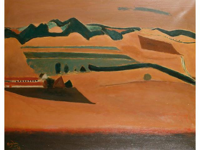 Henri Hayden (French, 1883-1970) Terracotta landscape