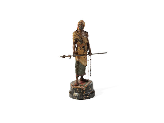 A Vienna cold painted bronze Arab warrior
