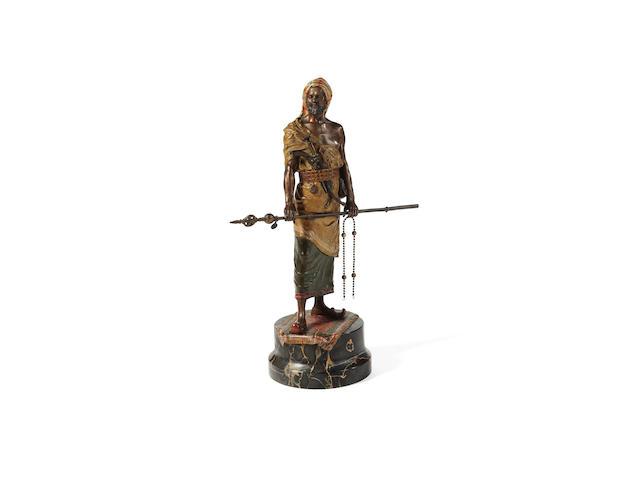 A Vienna cold painted bronze Arab warrior