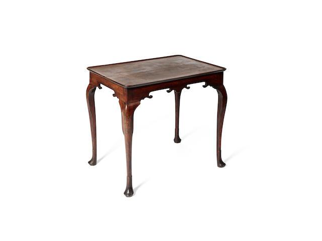 An Irish George III mahogany silver table