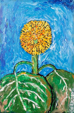 John Bratby R.A. (British, 1928-1992) Single sunflower
