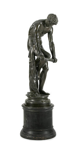"""Le Bucheron"", an imposing 19th Century cast bronze figure  Louis-Léopold Chambard (1811-1895)"