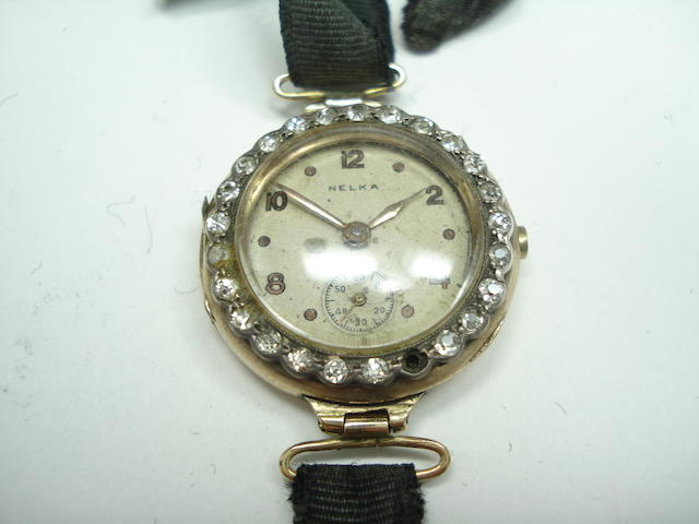 An early 20th century lady's diamond wristwatch, by Nelka