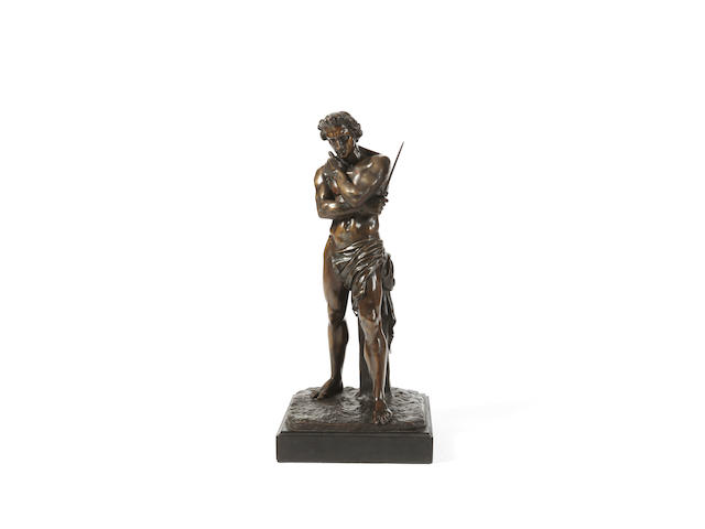Denis Foyatier (French, 1793-1863) A bronze figure of Spartacus