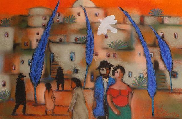 Pieter van der Westhuizen (South African, 1931-2008) Jerusalem couple