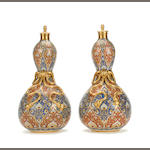 A pair of Minton Persian-style vases possibly by Christopher Dresser Circa 1870