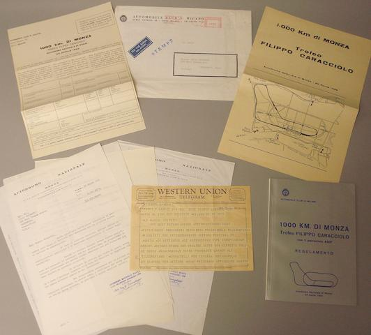 A Western Union telegram dated 1967 to Chinetti referencing the Granatelli Indy turbine car,
