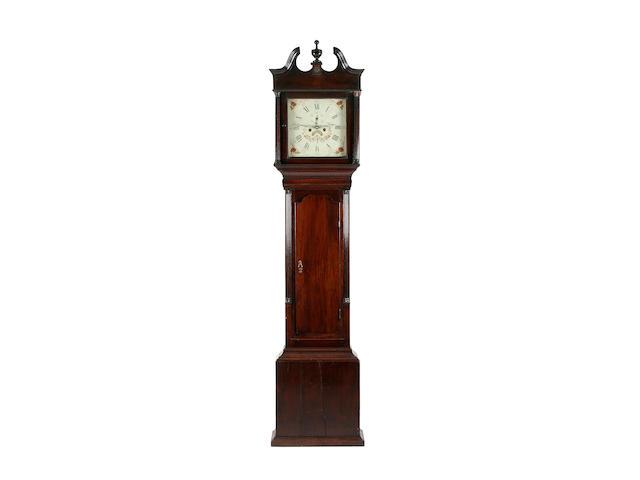 An oak-cased 8-day painted dial longcase clock, early 19th Century William Toleman, Caernarvon, (fl. c. 1795-1840)