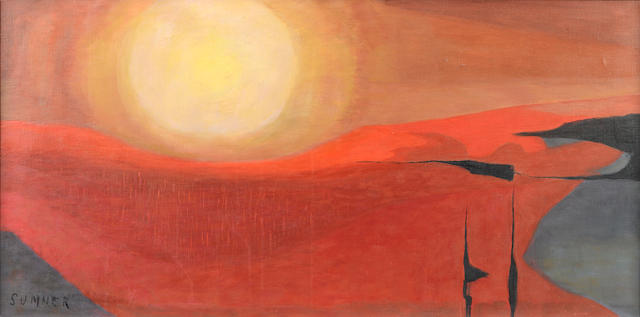 Maud Frances Eyston Sumner (South African, 1902-1985) Sahara sunset
