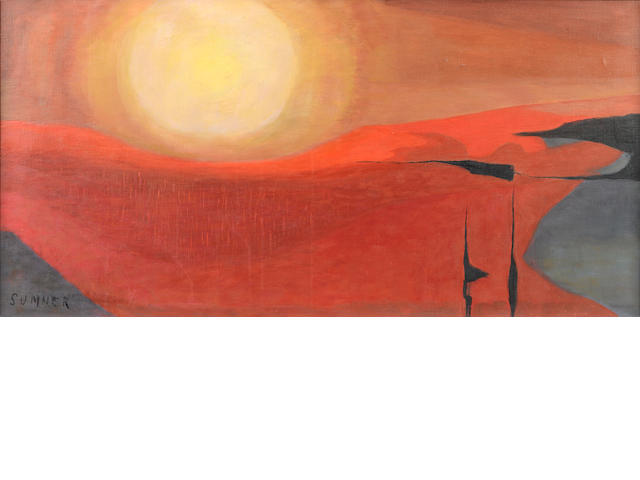 Maud Frances Eyston Sumner (South African, 1902-1985) Desert sunset