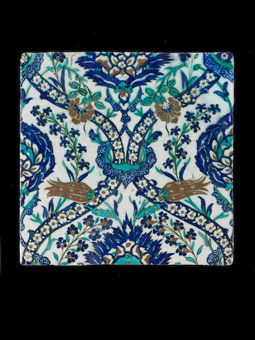 A group of Diyarbakir pottery Tiles Turkey,  circa 1600(3)