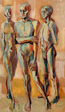 Gerard Sekoto (South African, 1913-1993) Three nudes