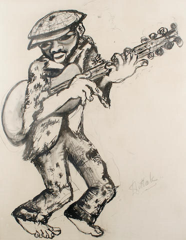 Lucas Tandokwazi Sithole (South African, 1931-1994) Guitar player