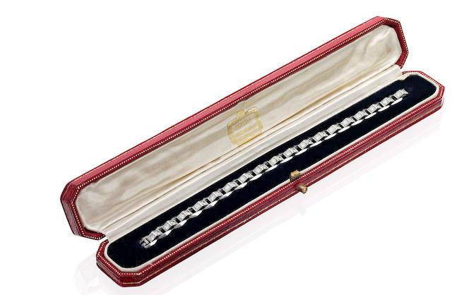 A diamond bracelet, by Cartier,