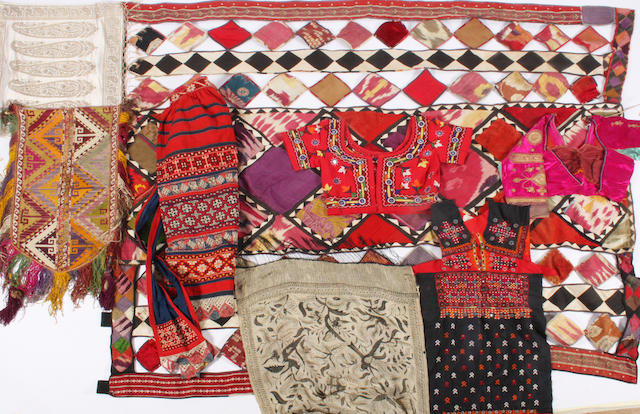 Mixed group of world textiles